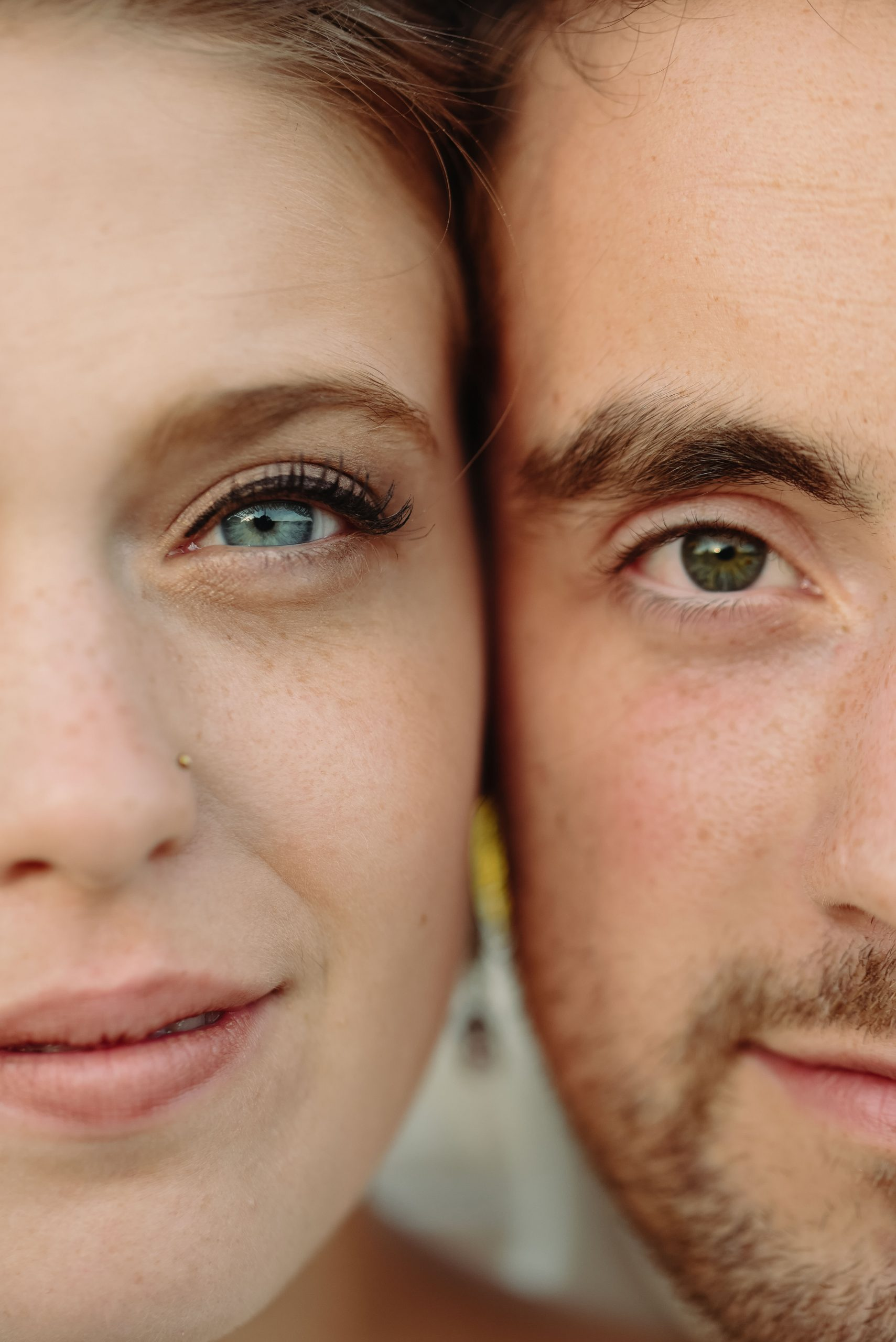 bride and groom close up portrait duluth minnesota wedding