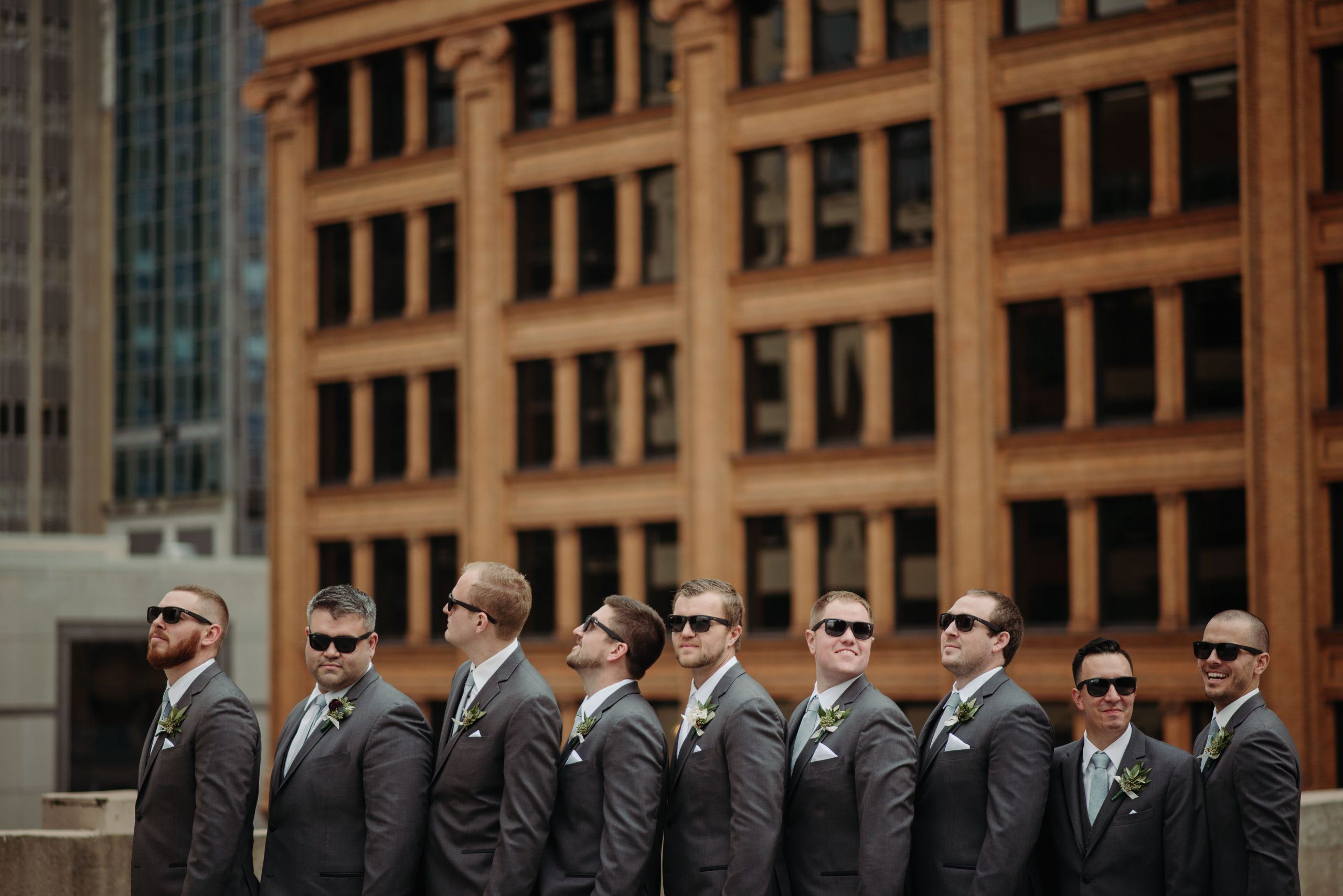 groomsmen portraits rooftop minneapolis lumber exchange