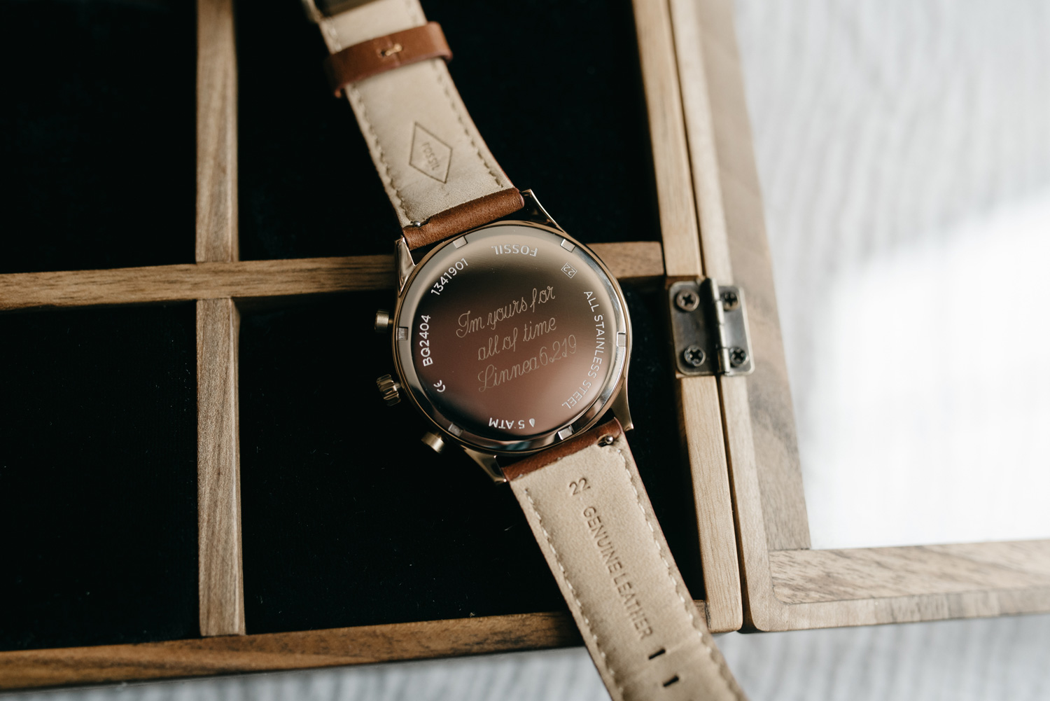 engraved watch wedding present