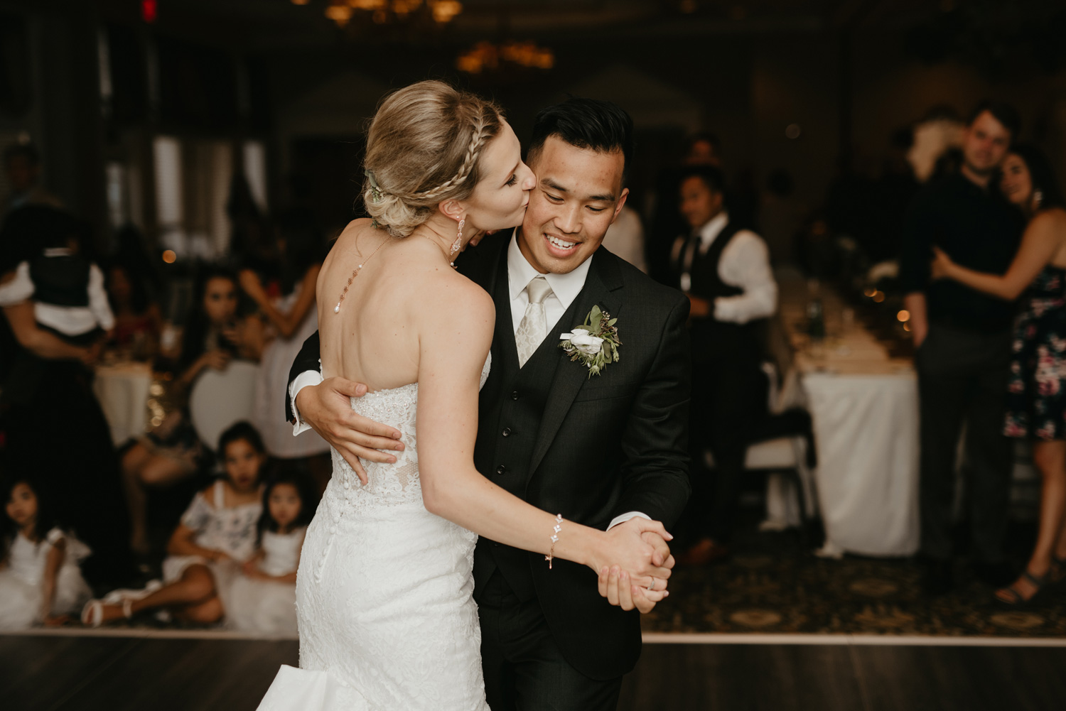 First wedding dance between bride and groom