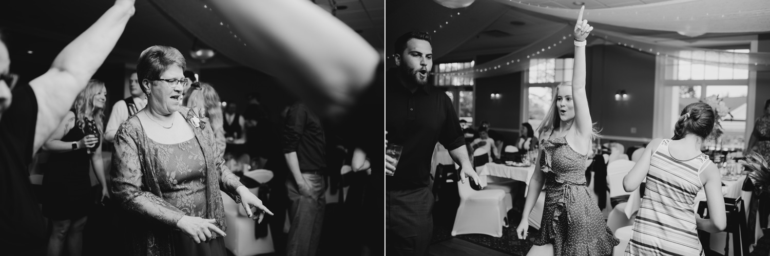Black and white wedding dancing photos