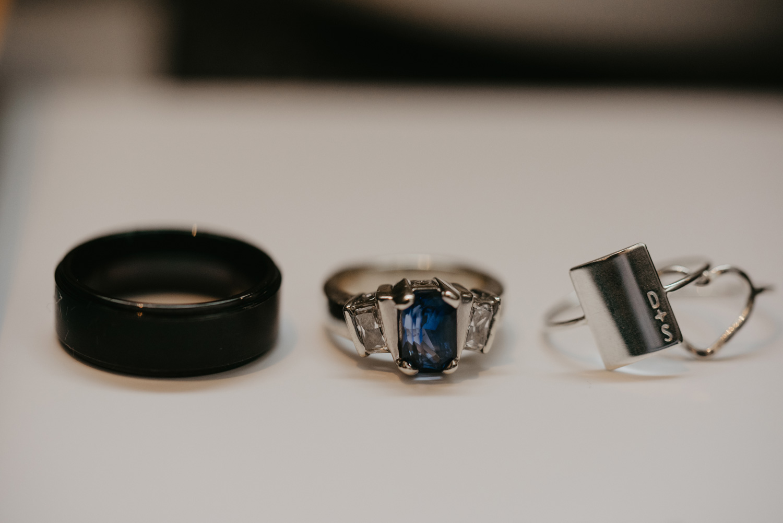 wedding rings side by side