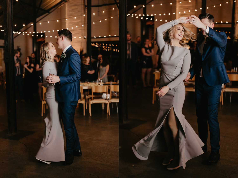 Bride and groom first dance Paikka Minneapolis St Paul